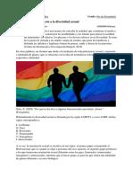 Objetividad con respecto a la diversidad sexual