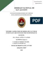 MEDIDA DEL FACTOR DE POTENCIA EN CIRCUITOS ELÉCTRICOS MONOFÁSICOS (1)