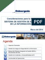 Consideraciones Auditoria 2014