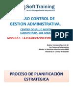Modulo 1 Planificacionn Estrategica Control de procesos Administrativos Centro Salud Mental Los Andes