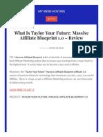 Taylor Your Future Massive Affiliate Blueprint 1.0 - Review