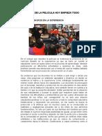 ANALISIS DE LA PELICULA HOY EMPIEZA TODO