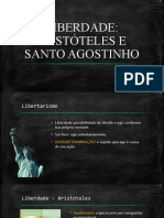LIBERDADE - Aristóteles e Santo Agostinho