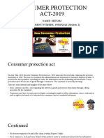 CONSUMER PROTECTION ACT-2019