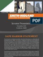 SMID Investor Presentation 202011