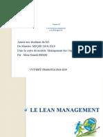 5-Les pratiques managériales - Lean Management (1)