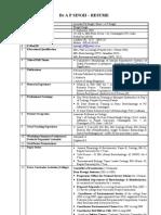 Dr A P Singh - Resume