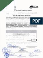 DECLARACIÓN JUARADA TRASLADO