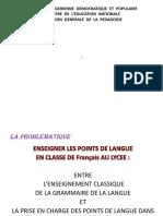 LA PRISE EN CHARGE DES POINTS DE LANGUE (1)