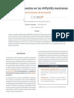 El Pago de Impuestos en Las MiPyMEs mexicanas. Determinantes de la evasión