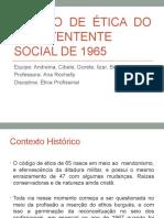 CÓDIGO DE ÉTICA DO ASSISTENTENTE SOCIAL DE 1965