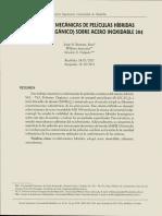 PROPIEDADES MECÁNICAS DE PELÍCULAS HÍBRIDAS