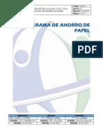 D-GA-13 Programa de ahorro de papel