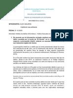 Análisis de delitos informáticos – Delitos Sexuales en Ecuador.