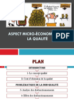 Aspect micro-economique de la qualité