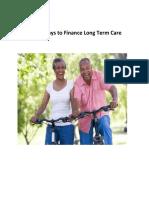 three ways to finance long term care