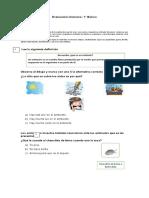 1° -Evaluación Ciencias
