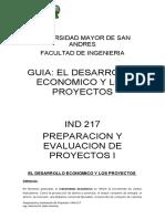 el desarrollo economico y los proyectos