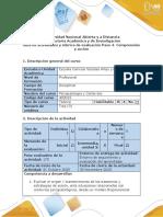 Guía de actividades y rúbrica de evaluación del curso - Paso 4 - Comprensión y acción