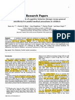 A comparative study of cognitive behavior therapy versus genera