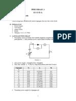 laporan pratikum dasar elektronika