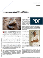 """Whittling Away at Food Waste"" - Toque, Nov 30, 2010"