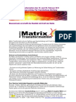 2011  Matrix Seminarbeschreibung 19-20 Februar Springe