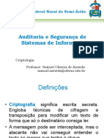 Auditoria e Segurança de Sistemas de Informação - Aula 02 - Criptologia