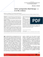 'Liberal' vs. 'restrictive' perioperative fluid therapy – a critical assessment of the evidence