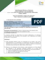 Guía de actividades y rúbrica de evaluación - Unidad 2 - Fase 2. Ejecutar la auditoría ambiental .docx