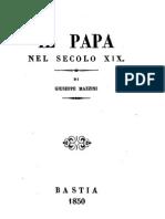 Giuseppe Mazzini - Il papa nel secolo XIX