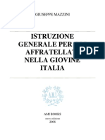 Giuseppe Mazzini - Istruzione generale per gli affratellati nella Giovine Italia