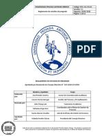 Reglamento de Estudios de Pregrado 2020