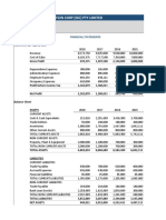 Activity 1 - Ratio Template and Financial Statements