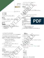 Corrigés maths 2ndeS(exercices de vacances)