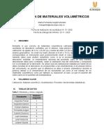 Calibración de materiales volumétrcos