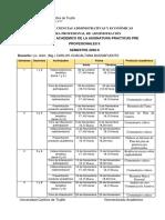 CRONOGRAMA PRACTICAS PRE PROFESIONALES II