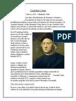 Cristóbal Colón y Enrique El Navegante