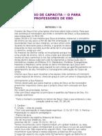 CURSO DE CAPACITAÇÃO PARA PROFESSORES DE EBD