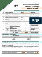 FORMATO_SÍLABO_ISTSB_2020 - REDISEÑO - ANALISIS MATEMATICO - RENE VILLACIS