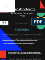 Professional Dissertation Writer PDF