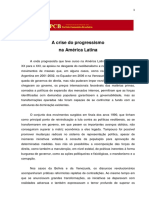 A CRISE DO PROGRESSISMO NA AMERICA LATINA