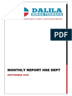 MONTHLY REPORT HSE PT. DSP Site Jambi - September