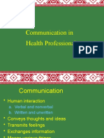 Communicationi in Health Professional