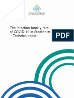 DEATH STATISTICS - IFR 0.6% - Infection Fatality Rate Covid 19 Stockholm Technical Report