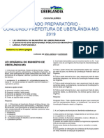 SIMULADO UBERLÂNDIA-MG 2019