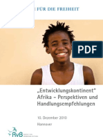 """""""Entwicklungskontinent"""" Afrika - Perspektiven und Handlungsempfehlungen"""