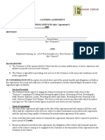 Catering Contract Terms of Agreement