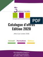Catalogue d'offres Ed. 2020 (Mise à jour 10/20)