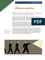 Building Organizational Capabilities